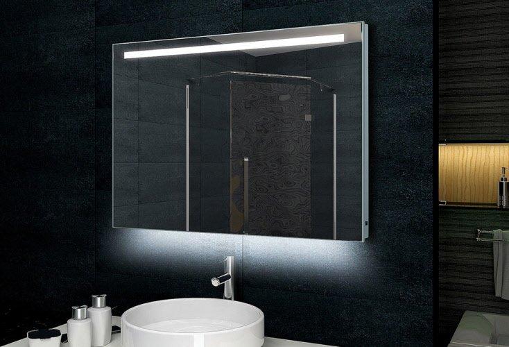 Design spiegel met LED verlichting 100x60/ 60x100 cm