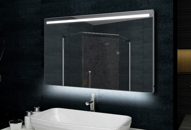 90 cm brede badkamer LED spiegel met verwarming en sensor met ...