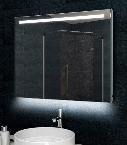 Lichtspiegel met led verlichting 80x60
