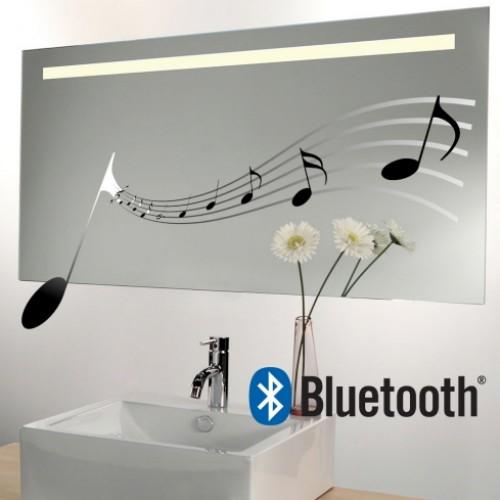 Spiegel met ingebouwd muzieksysteem, LED licht en verwarming 80x60 cm
