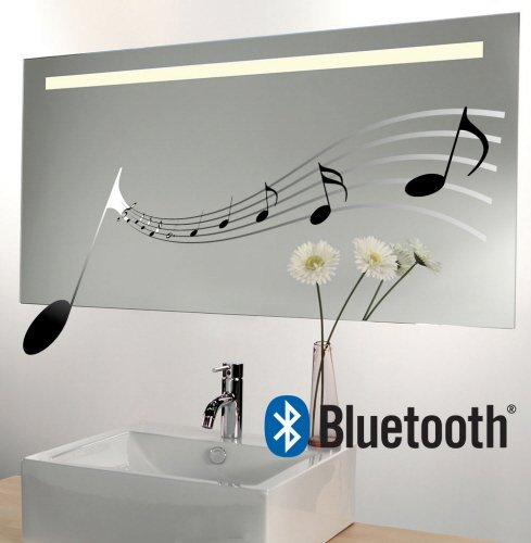 Badkamerspiegel met Bluetooth audio systeem en verwarming 100x60 cm