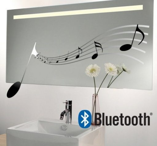 Fraaie muziek spiegel met Bluetooth systeem 120x60 cm