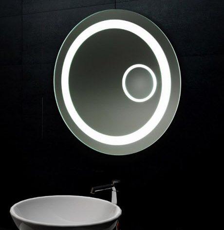 Ronde badkamerspiegel met LED en vergrotings spiegel 60 cm