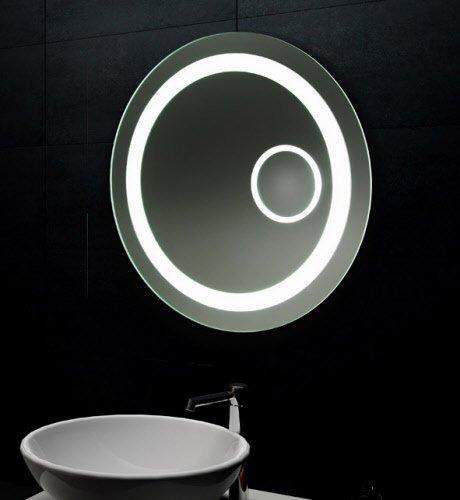 Ronde badkamerspiegel met LED en vergrotings spiegel 60 cm ...