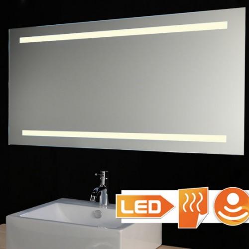 Badkamer led spiegel met verwarming en sensor 120x60 cm Badkamerspiegel met led verlichting en verwarming
