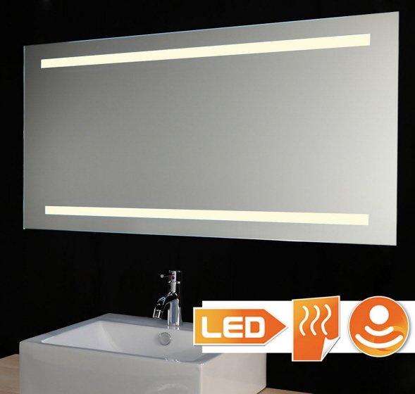 Led lichtspiegel met verwarming en sensor 140x60 cm