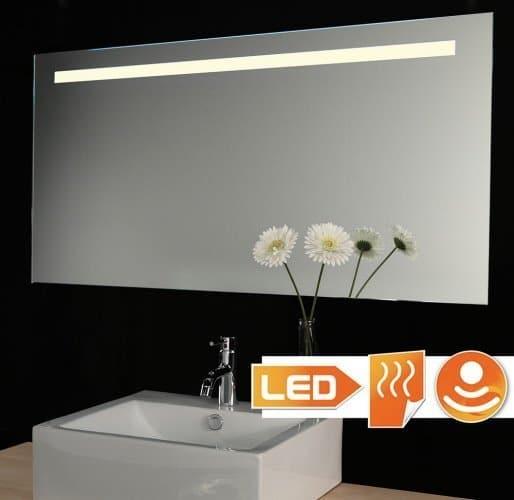 Badkamer spiegel met verlichting, spiegel verwarming 100x60 cm