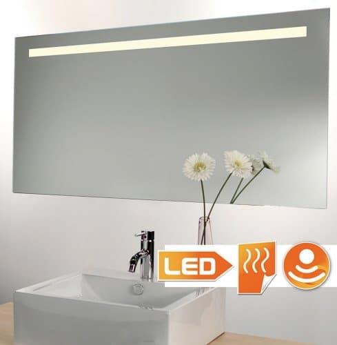 Badkamerspiegel met LED verlichting spiegelverwarming en sensor ...