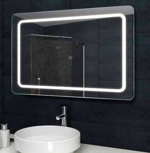 Mooie LED spiegel met afgeronde hoeken 100x60 cm
