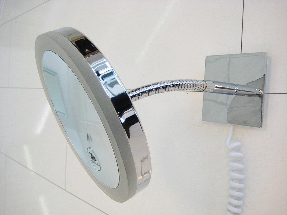 3x vergrotende scheerspiegel make up spiegel met verlichting designspiegels. Black Bedroom Furniture Sets. Home Design Ideas