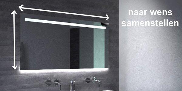 Badkamer Spiegels Met Verlichting : Badkamer spiegels op maat gemaakt