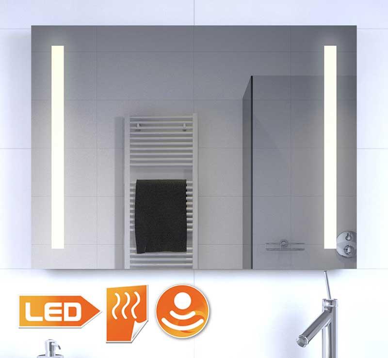Badkamer LED spiegel met verwarming en sensor dimmer