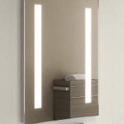 50 cm brede spiegel met verlichting en spiegelverwarming