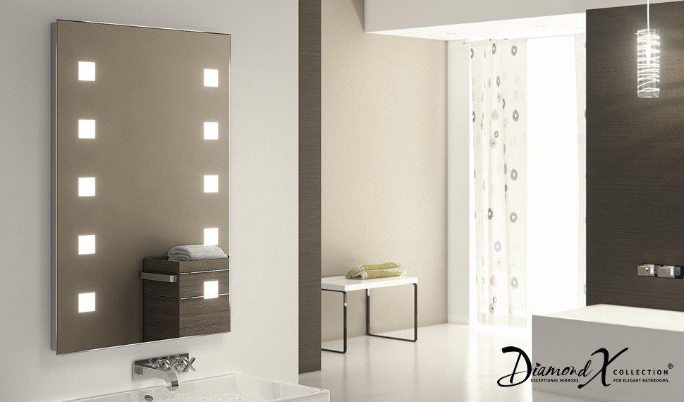 Design spiegel met LED verlichting en spiegelverwarming 60x90 cm ...