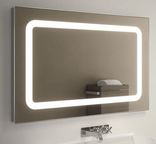 Verwarmde LED spiegel 90x60 cm