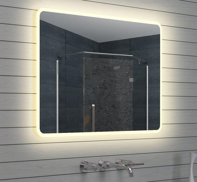 Spiegels met verlichting gratis levering designspiegels - Badkamer m ...