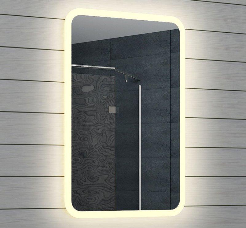 smalle toilet spiegel met led verlichting 40x60 cm designspiegels. Black Bedroom Furniture Sets. Home Design Ideas