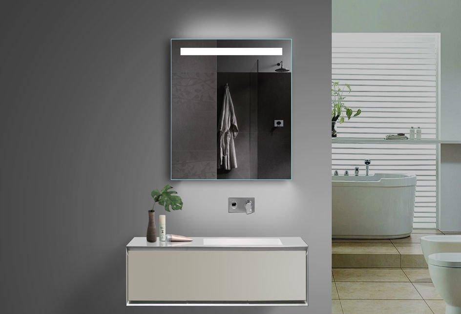 Badkamer spiegel met stopcontact 60x70 cm designspiegels - Spiegel tv badkamer ...