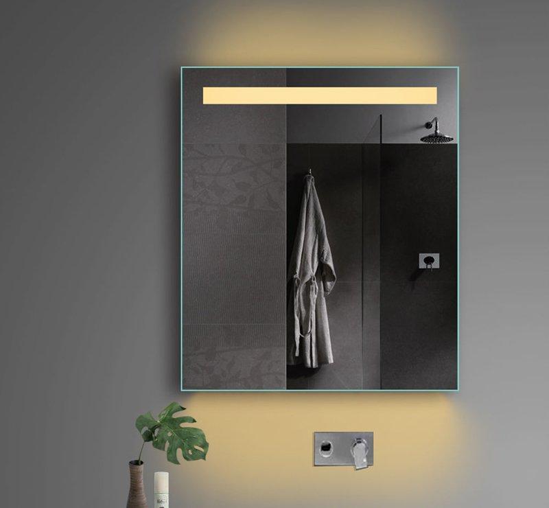 Badkamer spiegel met stopcontact 60x70 cm - Designspiegels