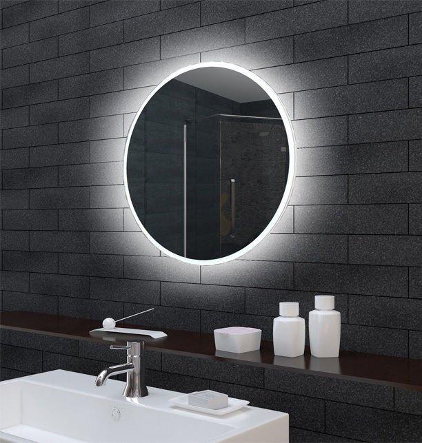 Ronde design badkamerspiegel met verlichting 60 cm - Designspiegels