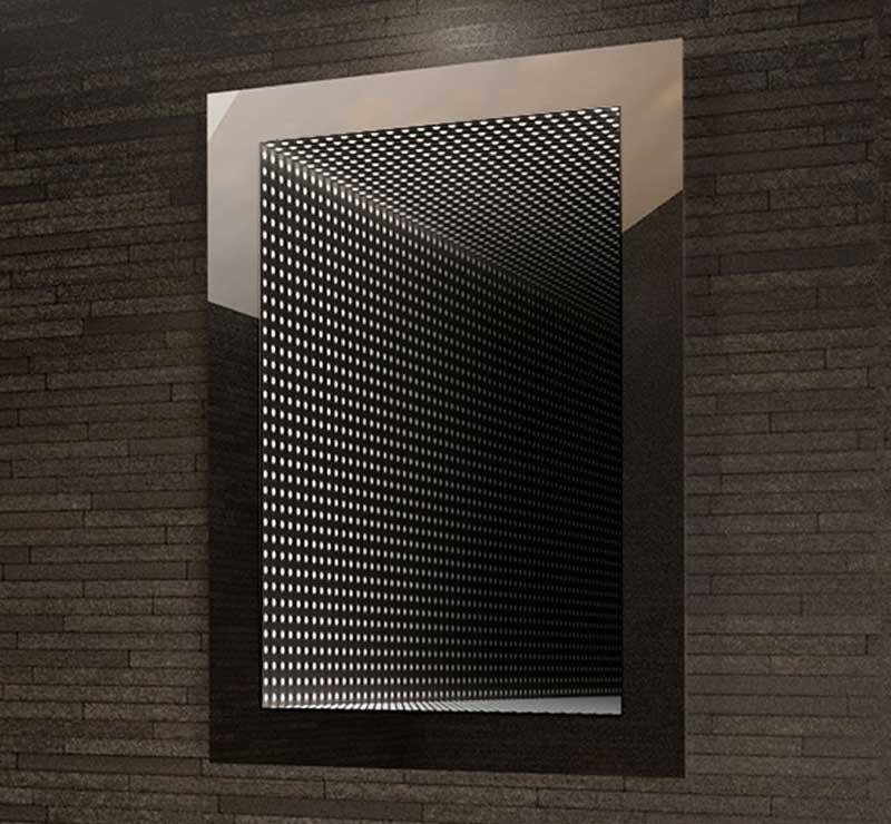 Ronde badkamerspiegel met verlichting en verwarming 70 cm
