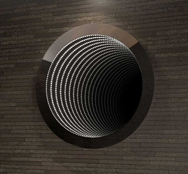 Ronde infinity mirror 60 cm
