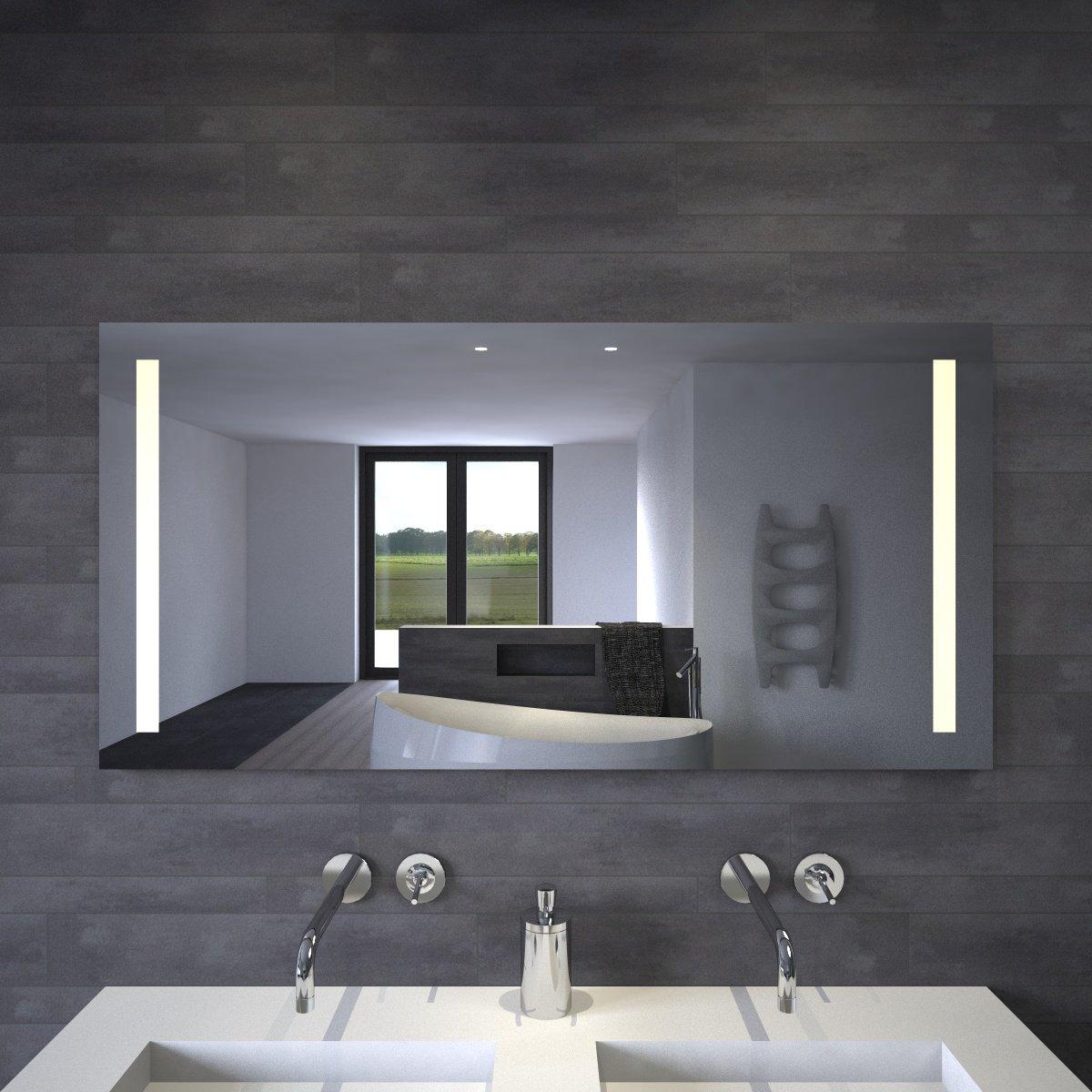 Maatwerk spiegel met LED verlichting links en rechts - Designspiegels