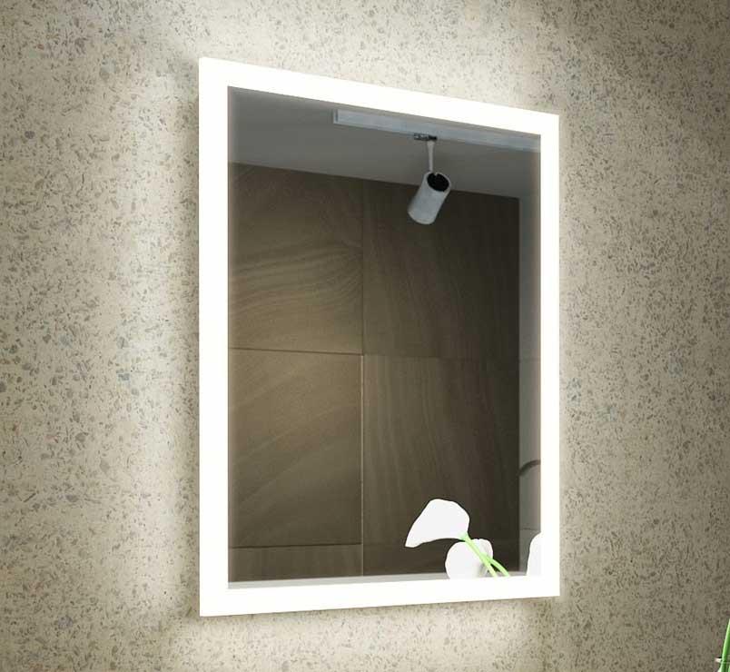 46 cm spiegel met verlichting, verwarming, sensor schakelaar en stopcontact