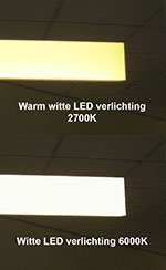 LED kleurkeuze wit of warm wit