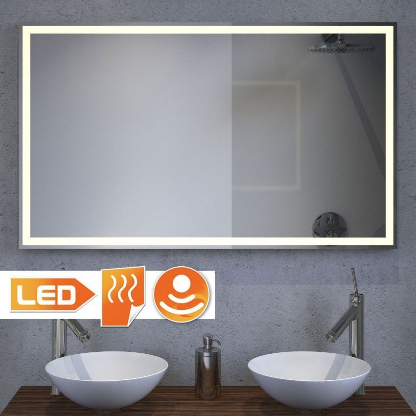 Badkamer LED spiegel met verwarming en sensor 90x60 cm