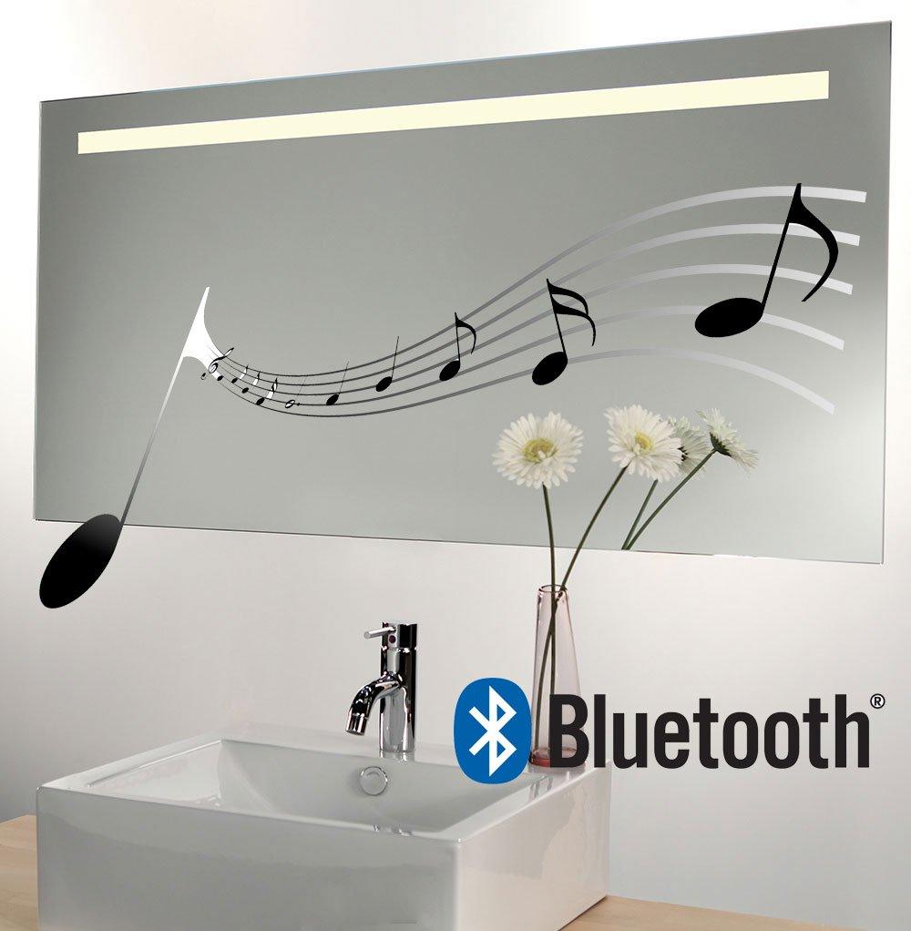 160x70 cm design spiegel met Bluetooth audio systeem, verlichting en spiegelverwarming