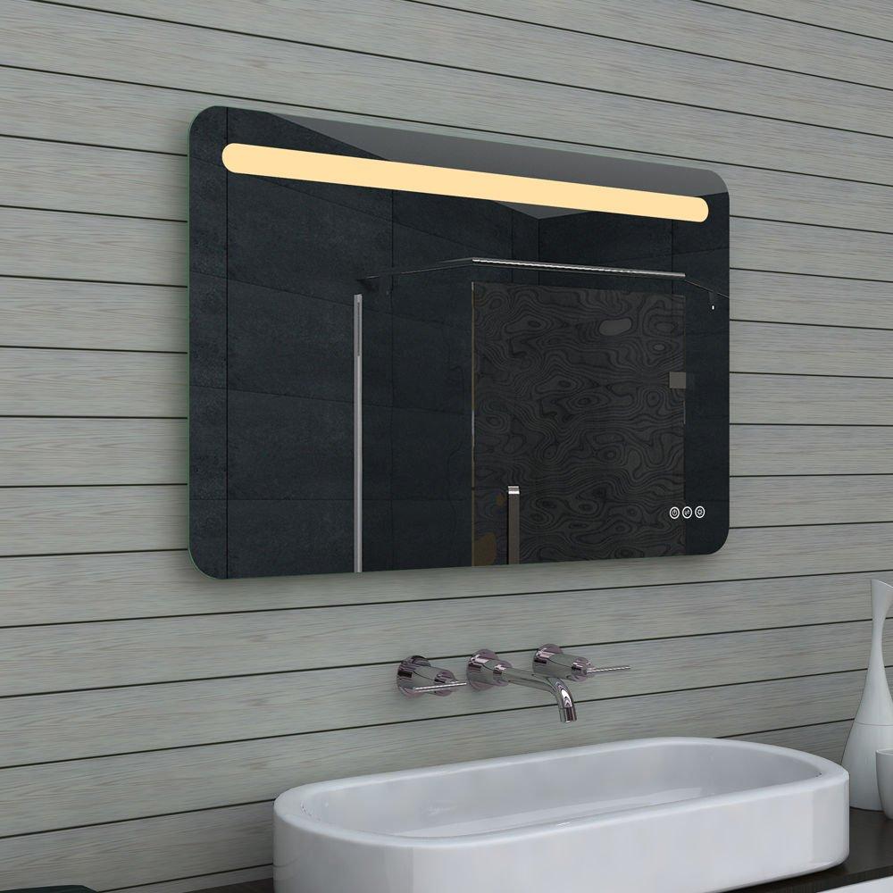 100 cm brede badkamer spiegel met instelbare verlichtingskleur en touch knoppen