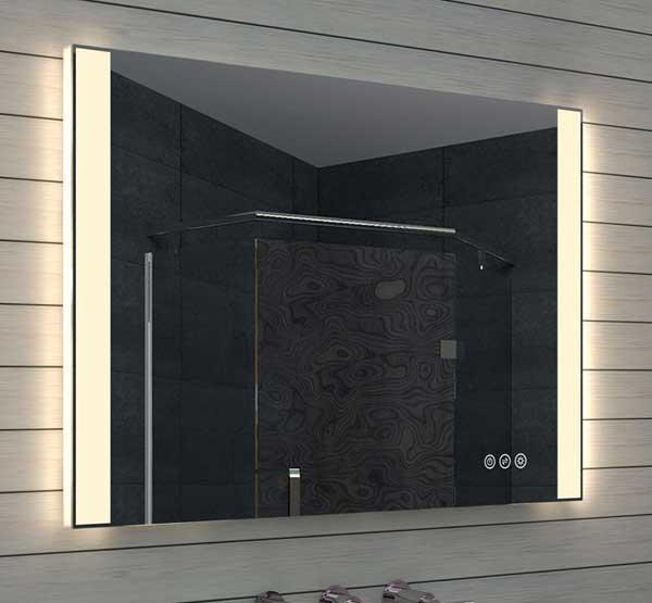 100 cm brede badkamerspiegel met dimbare led verlichting