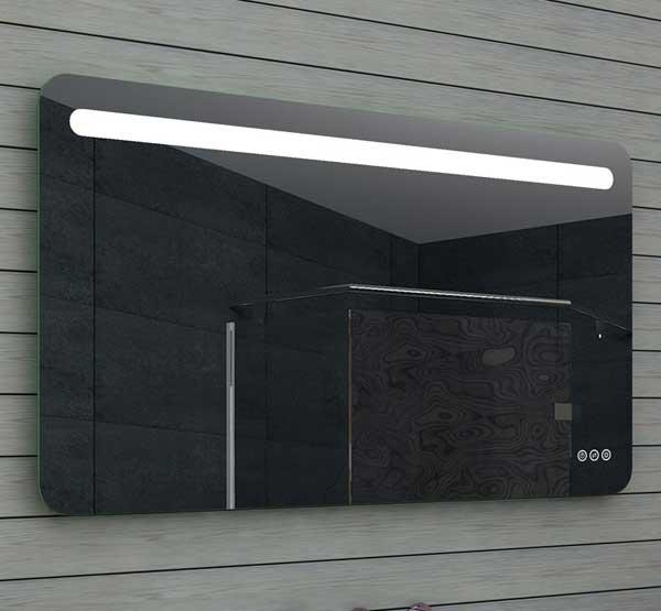 120x65 cm LED badkamerspiegel met afgeronde hoeken