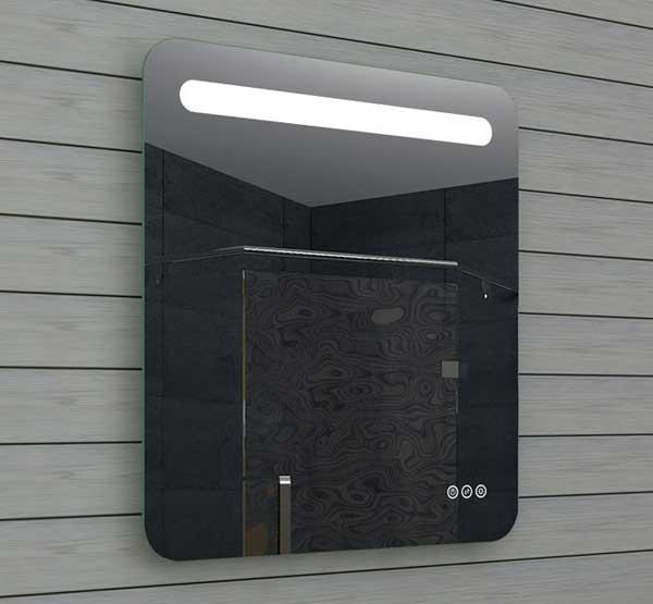 LED spiegel met afgeronde hoeken, dimbare verlichting en touch schakelaars