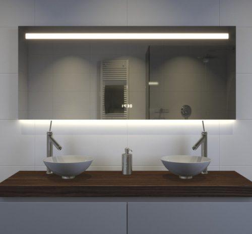 140 cm brede spiegel met vele opties! Degelijk gebouwd op een fraai aluminium achterframe
