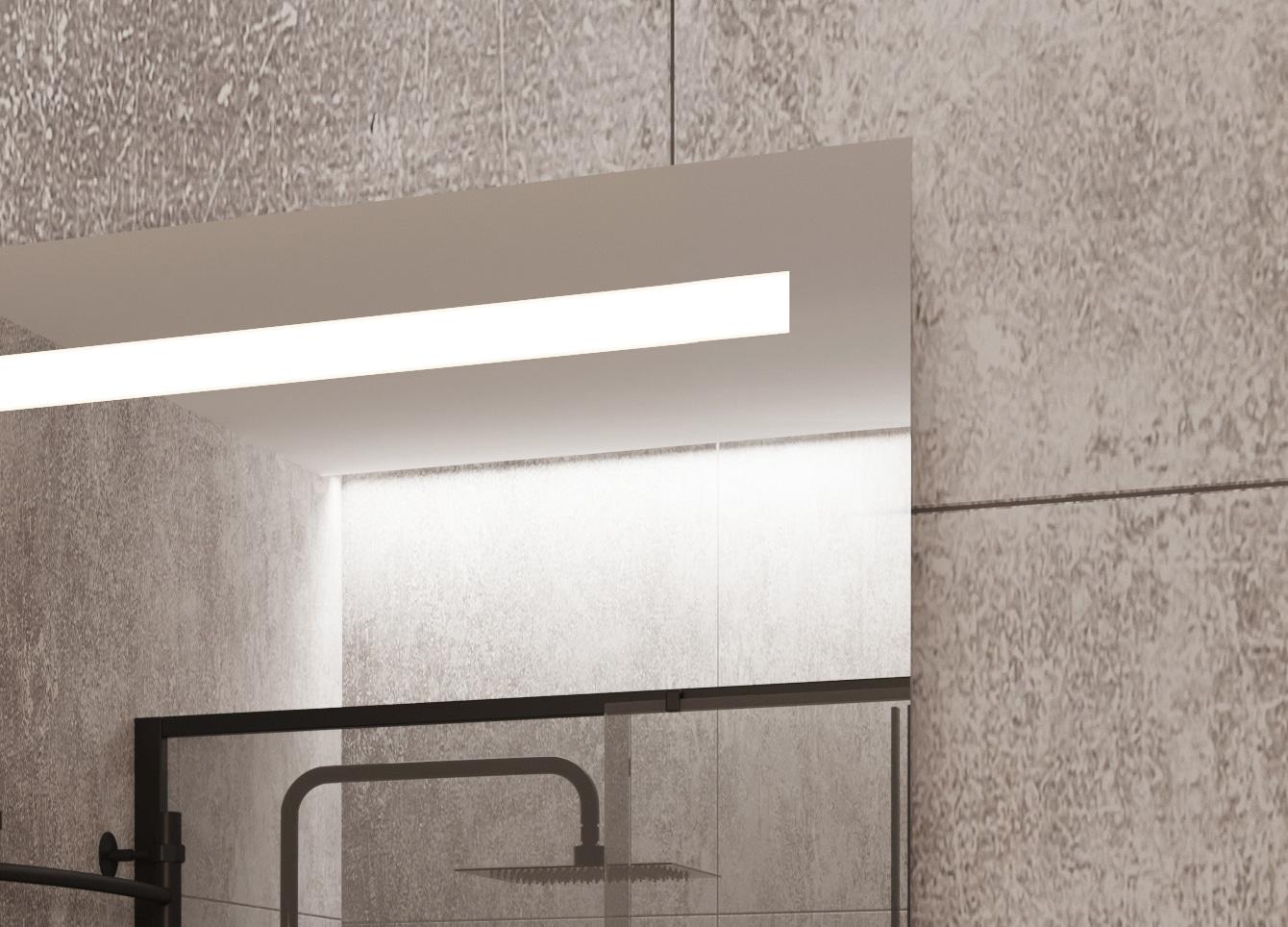Bovenkant spiegel met ingebouwde led verlichting