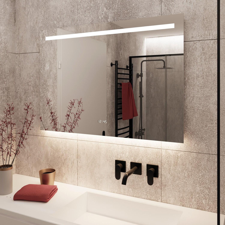 De spiegel is gebouwd op een luxe en strak afgewerkt aluminium achterframe