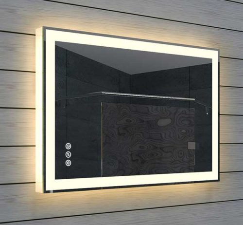 60x40 cm (bxh) spiegel met verlichting en instelbare lichtkleur