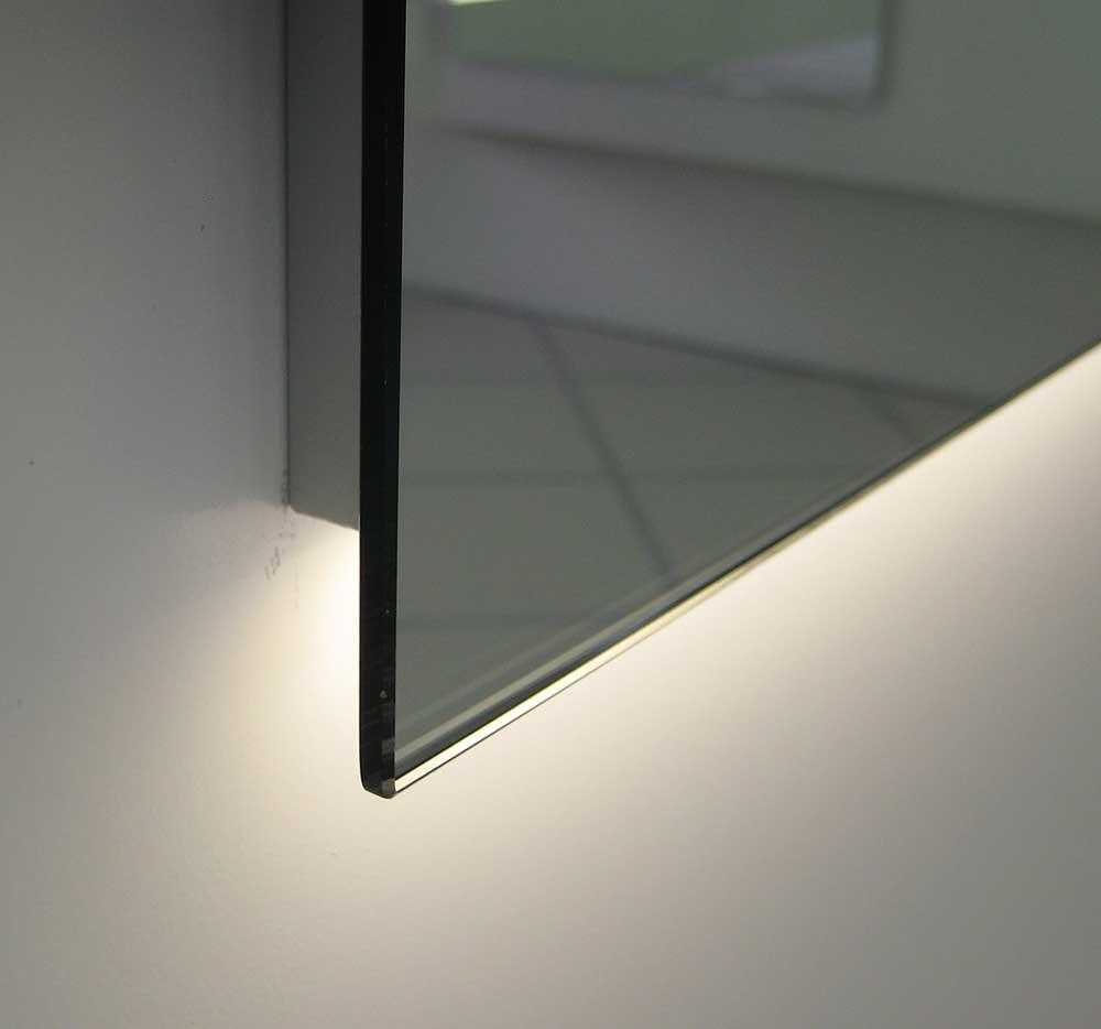 100 cm brede strakke spiegel met dimbare verlichting en verwarming designspiegels. Black Bedroom Furniture Sets. Home Design Ideas