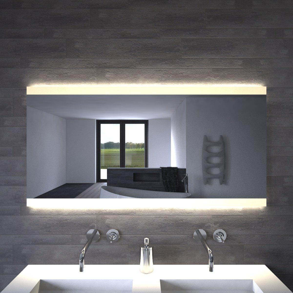 Spiegels met verlichting gratis levering designspiegels for Spiegel 140x80