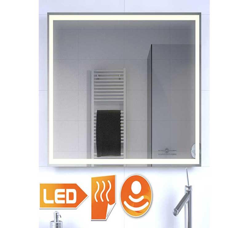 Fraaie LED spiegel met verwarming en sensor schakelaar