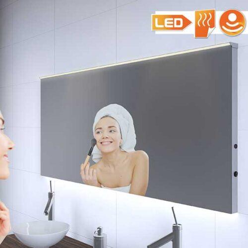 160 cm moderne badkamer spiegel met verwarming en sensor dimmer