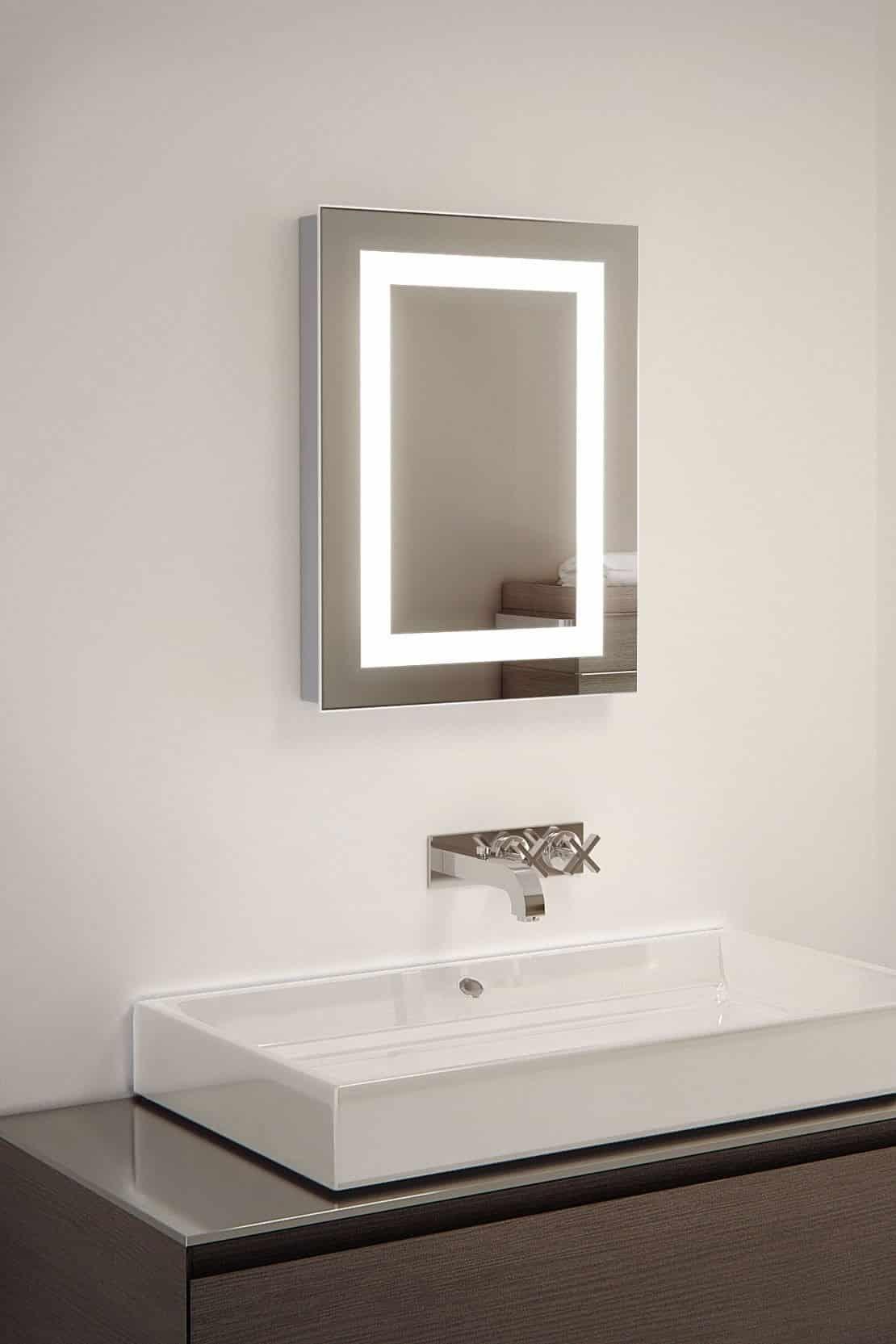 kleine toilet badkamer spiegel met design verlichting 39x50 cm designspiegels. Black Bedroom Furniture Sets. Home Design Ideas