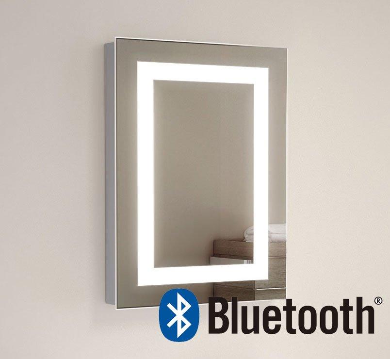 Toilet spiegel met Bluetooth muziek systeem en 2x 50W speakers