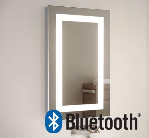 50 cm brede badkamer of toilet spiegel met Bluetooth muziek systeem inclusief 2 speakers van elk 50W