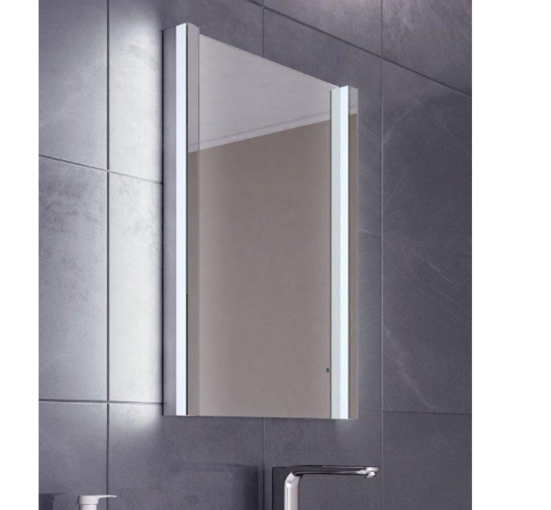Luxe afgewerkte badkamer spiegel met verlichting en verwarming 50x70 ...