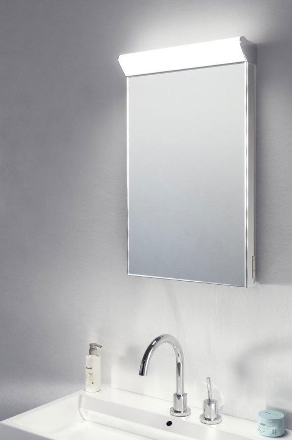 smalle spiegel voor toilet of badkamer met verlichting 40x60 cm designspiegels. Black Bedroom Furniture Sets. Home Design Ideas