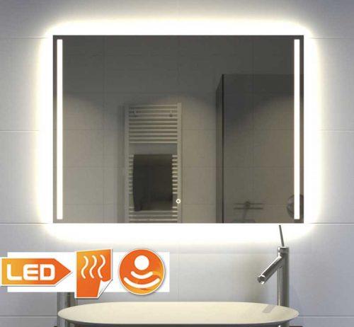 Moderne badkamer spiegel met verlichting 80 cm