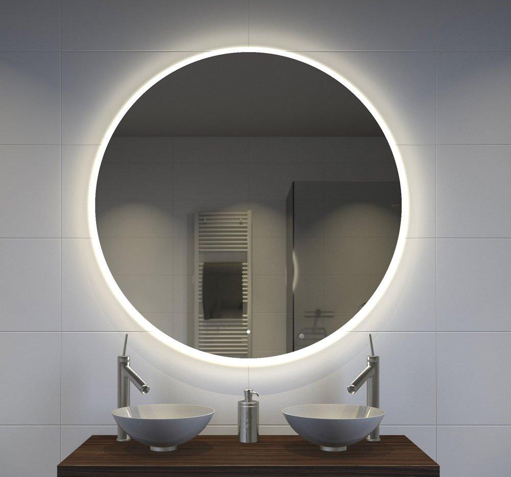 Grote Ronde Spiegel.Grote 100 Cm Ronde Badkamer Spiegel Met Uniek Lichtdesign En Spiegelverwarming